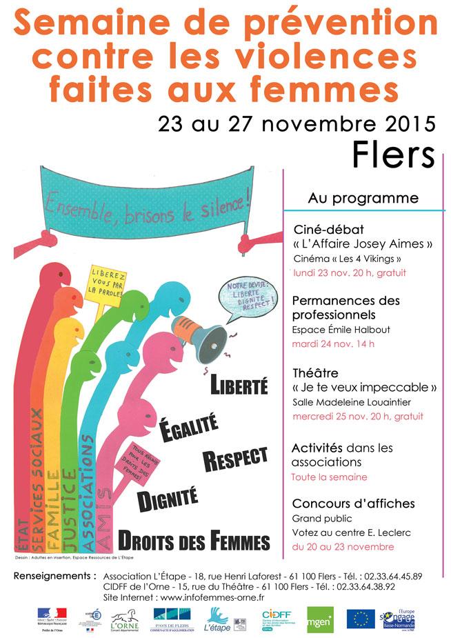 Semaine de prévention et de lutte contre les violences 2015, Flers