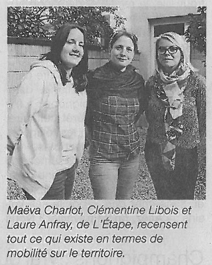 Maëva Charlot, Clémentine Libois et Laure Anfray, de L'Étape