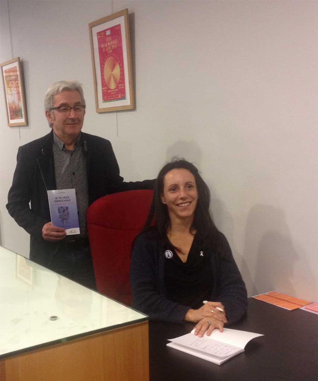 Rachel Jouvet, auteure, et Jean-Yves Patry, directeur de L'Étape