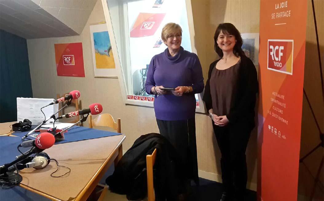 Sophie Poleyn, animatrice RCF Calvados-Manche et Olga de Saint-Jore, chargée de mission pour l'égalité entre les femmes et les hommes
