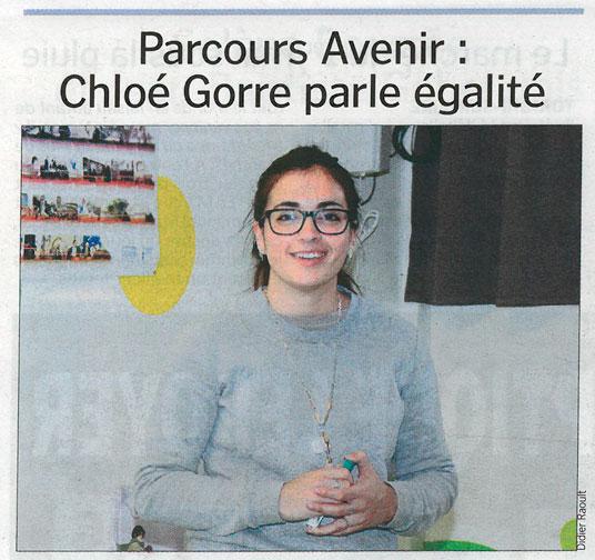 Chloé Gorre au collège Albert Camus de Torigni-sur-Vire